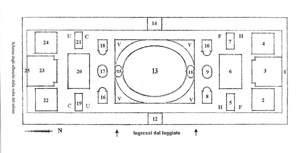 mappa affreschi Salone