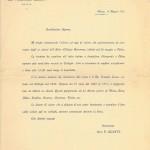 raduno 1912, lettera invito