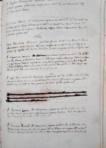 registro alunni, 1760