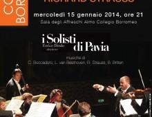 """Concerto de """"I Solisti di Pavia"""" in occasione del 150° anniversario della nascita di R. Strauss"""